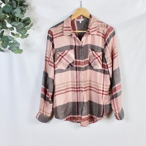 lucky brand plaid button down